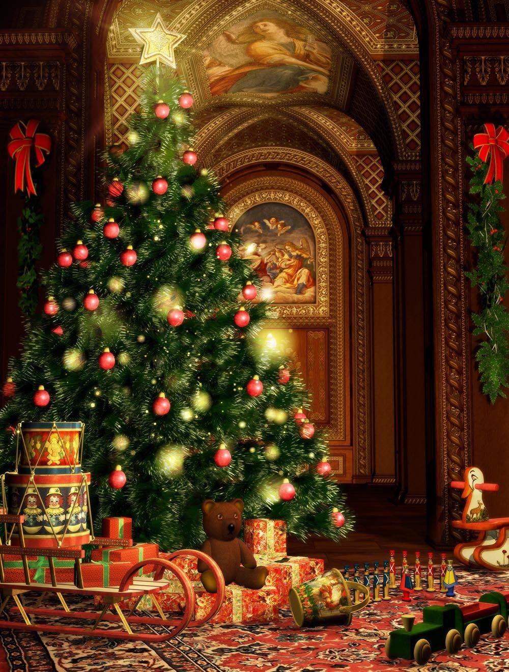 3D Weihnachtsbaum Kirche 73 Tapete Wandgemälde Tapete Tapeten Bild Bild Bild Familie DE | Die erste Reihe von umfassenden Spezifikationen für Kunden  | Rich-pünktliche Lieferung  |  5bd8ee