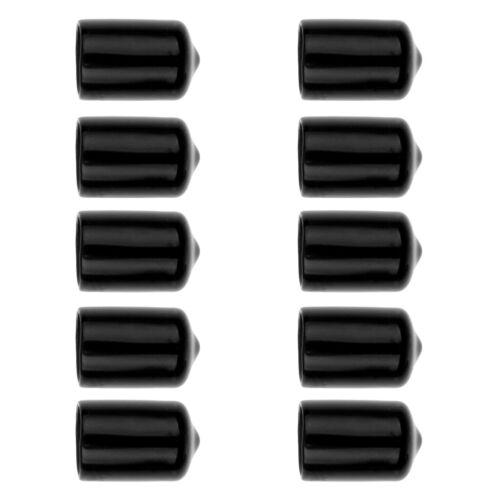 10Pcs schwarze Gummi-schützende Abdeckung für Pool-Stichwort-Kopf-Teile