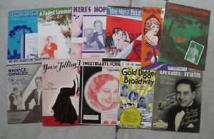 Lot-de-11-early-1900-S-to-1930-S-sheet-music-livrets-variete
