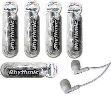 5 x WHITE  HEADPHONES / EARPHONES WITH MIC FOR iPHONE, iPad,MP3, BLACKBERRY