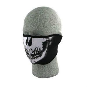 Glow in Dark Paintball Splatter Black Half Neoprene Face Mask Biker Costume Ski