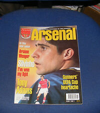 ARSENAL - THE OFFICIAL MAGAZINE VOLUME 3 ISSUE 11 - GUNNERS' UEFA CUP HEARTACHE
