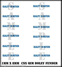 BOLEY VEHICLE FENDER DECALS CSX QUALITY IN MOTION HO SCALE 1/87