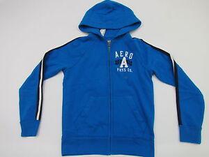 Aeropostale Mens Navy Blue Aero Logo Full Zip Fleece Sweatshirt Hoody Nwt S $60 Hoodies & Sweatshirts