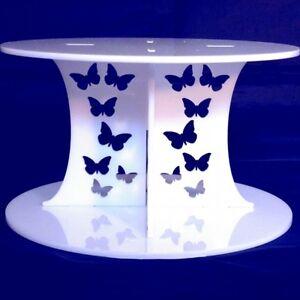 Schmetterling-Design-Rund-Einzeln-Stufiger-Torten-Staender-Erhaeltlich-in-a