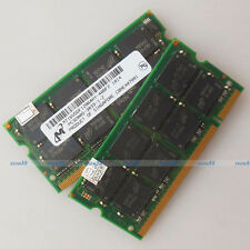 Micron 2GB 2x1GB PC3200 DDR400 400Mhz 200PIN Laptop SO-DIMM Memory RAM Full Test