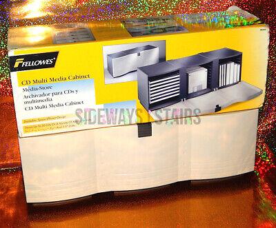 FELLOWES MULTI MEDIA STORAGE CABINET cd floppy disk cd-rom ps1 dreamcast  vintage   eBay