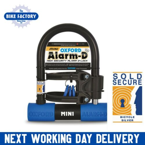 Alarm-D Mini 205mm x 155mm Sold Secure Silver Oxford Alarmed Bike Lock