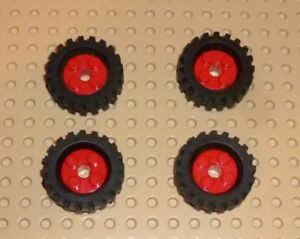 Lego-Roue-Freestyle-with-Black-Tire-30-x-10-5-rouge-X-4-6248c03-TW85