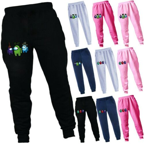 Among Us Kids Trousers Boys Girls Casual Sport Jogger Pants Bottoms Tracksuit