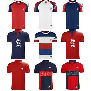 MENS-ENGLAND-TOP-POLO-T-SHIRTS-SHORT-SLEEVE-SPORTS-CRICKET-FOOTBALL-GOLF-TEES