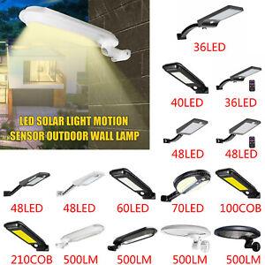 48-60LED-Jardin-exterieur-Lampe-murale-Lampadaire-Capteur-de-mouvement-solaire