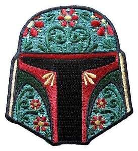 Star-Wars-Boba-Fett-Floral-Helmet-Embroidered-Patch
