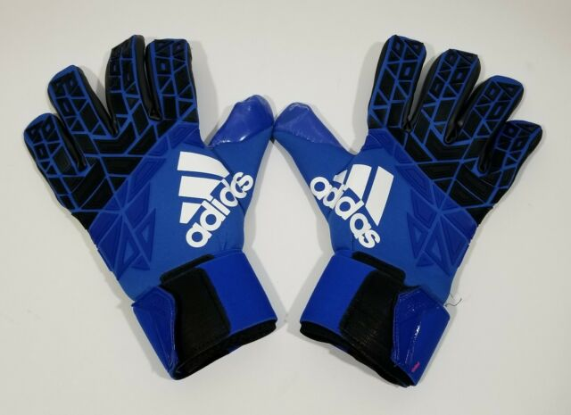Adidas Soccer Ace Trans Pro Mens Goalie Gloves Blue Black Size 12