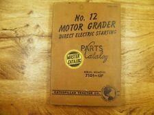 Cat Caterpillar No 12 Motor Grader Parts Manual Book 71d1 Up Form 32741
