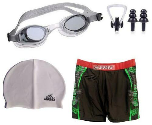 Ear plug /& Nose-tyP Trunks Details about  /Morex Swimming Cap Googles Size-4XL