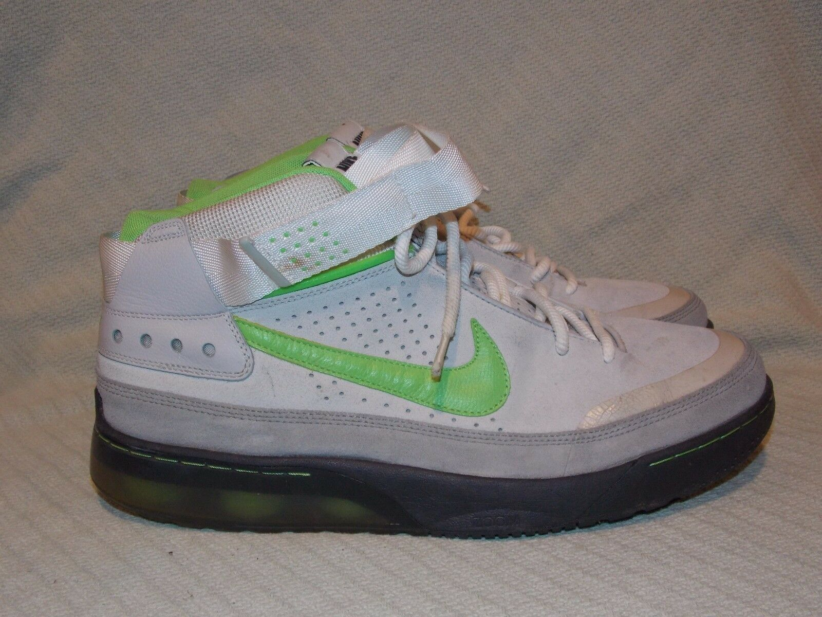9c0ff9ed5c1c Men s Men s Men s Size 14 2008 Nike Air Force SHOX Suede Mid s Gray Green  315836