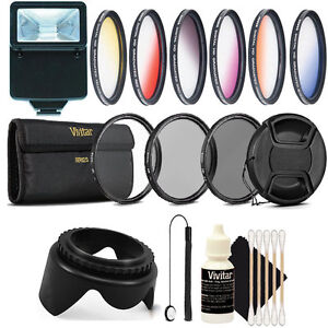 Teds Electronics 58mm Color Filter and UV CPL ND Accessory KIT for EOS Rebel T6i T6 T6s T5i T5 T4