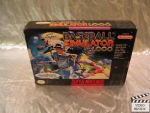 Super Baseball Simulator 1.000 Super Nintendo Entertainment System, 1990 No Inst