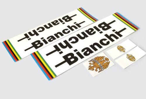 BIANCHI Pista Decals Sticker Aufkleber Dekor 5-teilig Set Rennrad Bahnrad Fixie