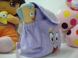 Dora Backpack Purple Plush  Girls Preschool The Explorer Rescue Bag