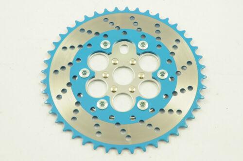 44 dents Chainwheel OPC Chaîne Bague Old school BMX années 80 2 bleu chrome /& NOS