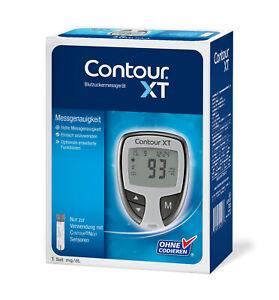 Contour XT Blutzucker-Messgerät mg/dl plus Teststreifen - neu+OVP v. med. FH
