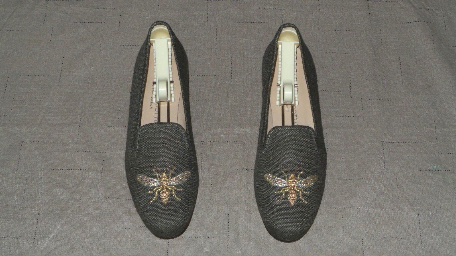 marchi di stilisti economici SO CUTE   450 Stubbs and Wootton Olive Olive Olive verde Canvas  WASP  Slippers Loafers Shoe  grande sconto
