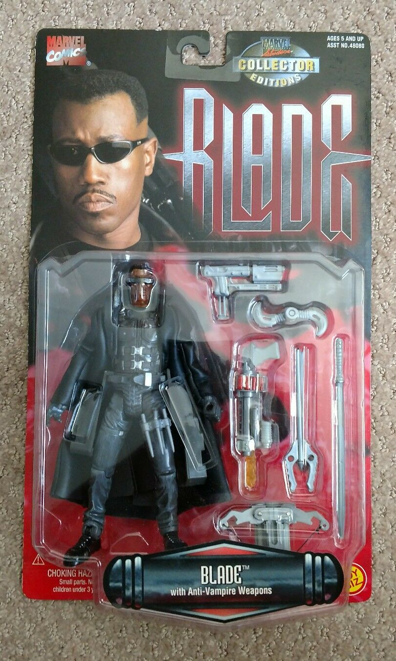 Marvel BLADE Movie w Anti-Vampire Weapons Action Figure 1997 ToyBiz Brand New