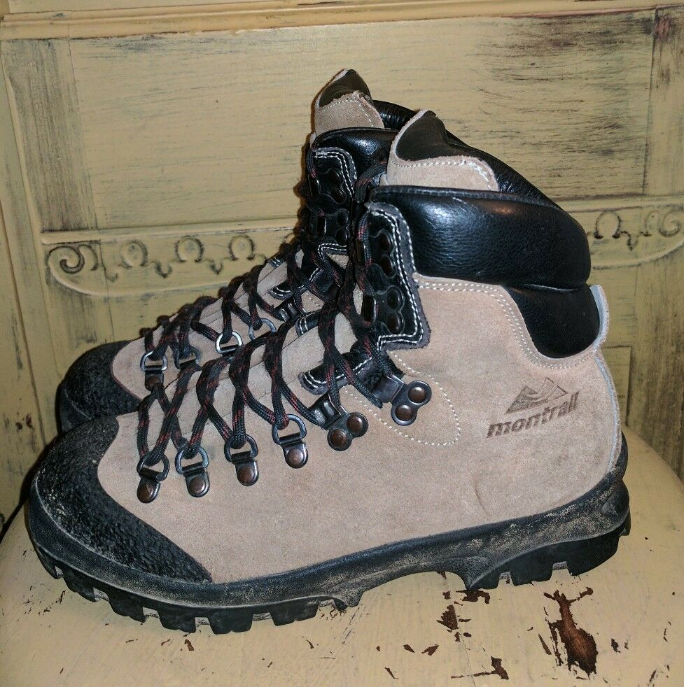 MONTRAIL HIKING ITALY LADIES HARDCORE MOUNTAINEERING HIKING MONTRAIL BOOTS BROWN 7 M 5d5f60