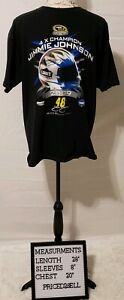Nascar Chase Authentics Mens Jimmie Johnson Short Sleeve T-Shirt Large L EUC