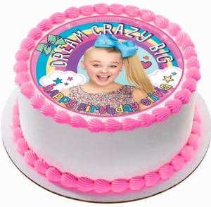 JoJo Siwa Edible Wafer Circle Cake Topper Birthday Image Decoration ...