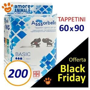 200 TAPPETINI ASSORBELLO 60x90 BASIC - Traverse Assorbenti per Cani ex Fuss Dog