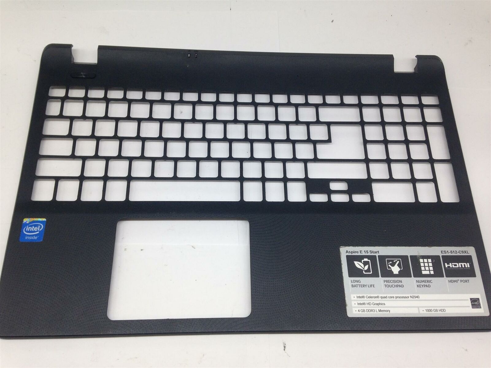 Laptop Replacement Keyboard Fit Acer Aspire ES1-512 ES1-531 Gateway NE512 NE513 Palmrest Cover Case+Bottom Base Cover Case