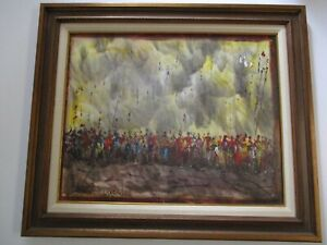 LARGE-PASCAL-CUCARO-PAINTING-MODERNISM-ABSTRACT-EXPRESSIONISM-PARADE-FESTIVAL