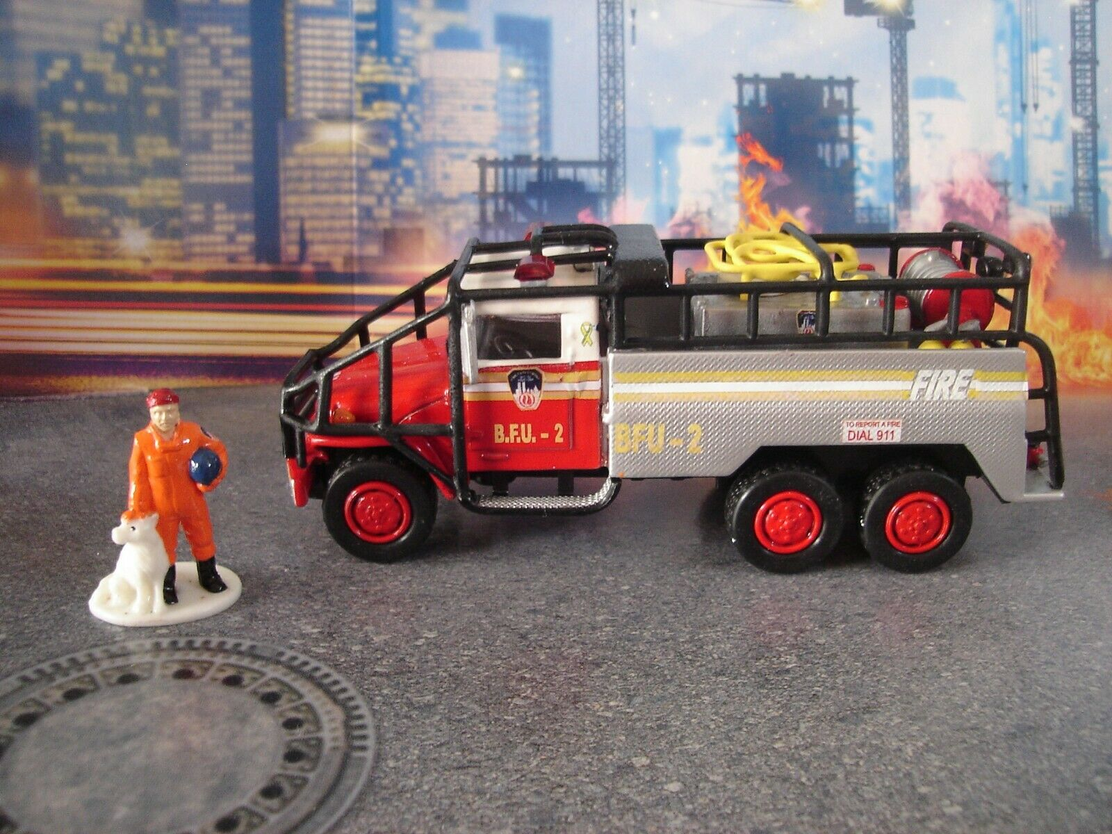FOR  CODE 3 KITBAST FDNY  BFU -   2    WITH FIGURE    1 64 SCALE