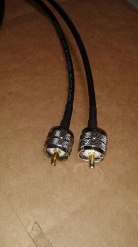 US MADE   RG-58//U   PL259  UHF to PL259  HAM CB VHF  RF Antenna cable    35 FT