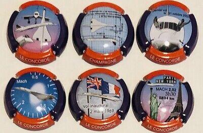 Série de 6 nouvelles génériques Le Concorde Septembre 2019