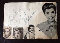 GLORIA DEHAVEN - AMERICAN SINGER AND ACTRESS - SIGNED VINTAGE ALBUM PAGE