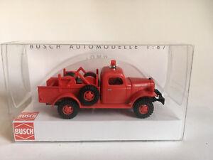 Busch-44035-Dodge-Power-Wagon-Firedepartment-Auto-Modell-1-87-H0