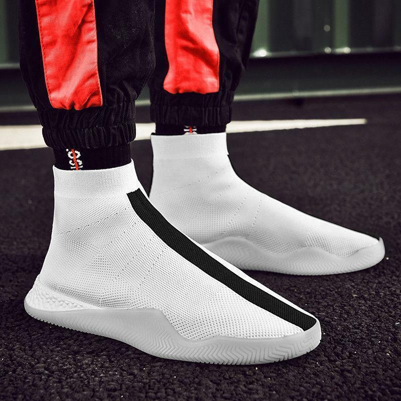 Men Fashion Running shoes Outdoor High Top Sock Sneakers Leisure Sports Big Size