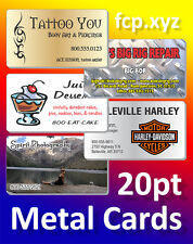 500 custom business cards with blank backside ebay 500 full color custom printed metal business cards with rounded corners reheart Gallery