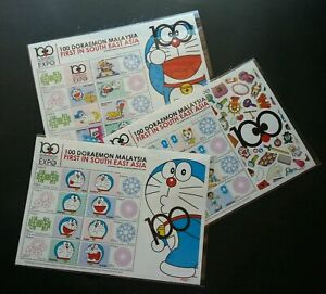 SJ-100-Doraemon-Malaysia-Japan-Cartoon-Animation-2013-sheetlet-MNH-official