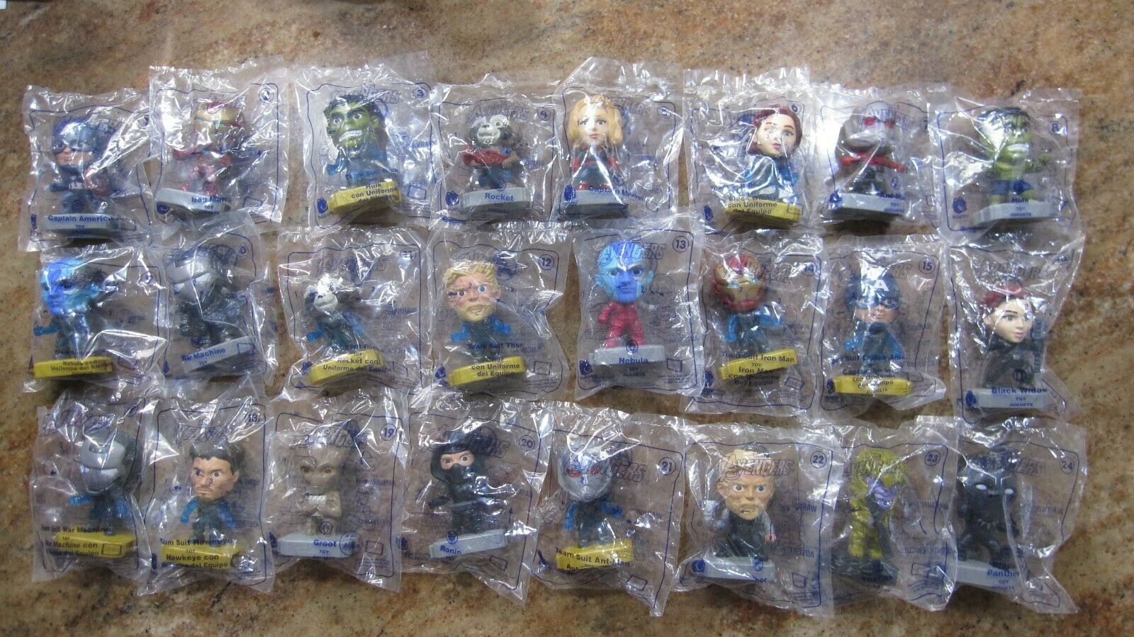 Mcdonalds 2019 AVENGERS complete set of 24