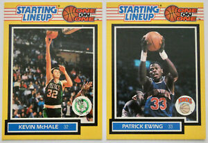 1989 STARTING LINEUP BASKETBALL Patrick Ewing Kevin McHale One on One 2 Card Set
