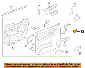 gm oem front door handle inside cover left 25897906 ebay rh ebay com GM Part Number Look Up GM Engine Parts Diagram