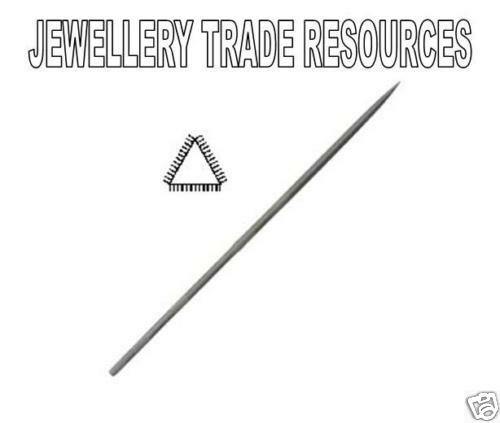 Jewellers Swiss Made 160mm Triangle Needle File Cut 0 Jewellery Making