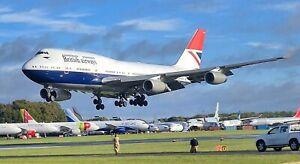 British Airways G-CIVB 747-400 Economy seats
