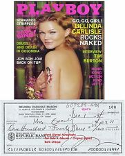 BELINDA CARLISLE  MUSIC STAR  HAND SIGNED BANK CHEQUE / CHECK DEC 1994 RARE ITEM