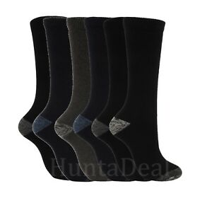 24-Pairs-Socks-Outdoor-Work-Black-Heavy-Duty-Boots-Reinforced-Heel-Thermal-New